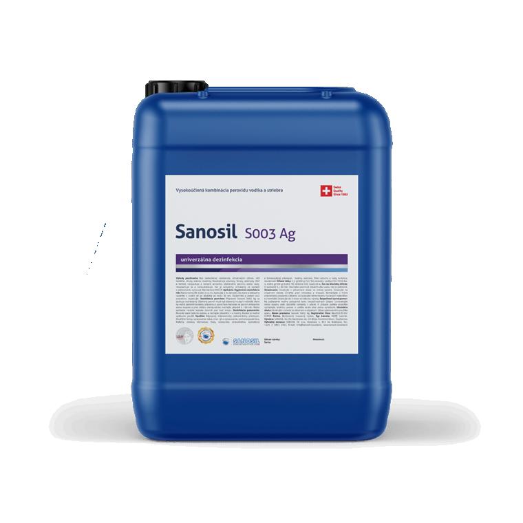 Sanosil S003/DETECTAIR, 5kg balenie  - Dezinfekcia gastro prevádzky kuchyne, sanitárne zariadenia,dezinfekcia hračiek a umývateľné plochy proti vírusom, baktériám a plesni