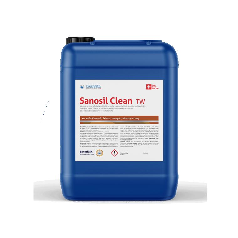 Sanosil Clean TW/R, balenie 5kg - odstraňovanie vodného kameňa, mangánu, železa, nánosov a rias.