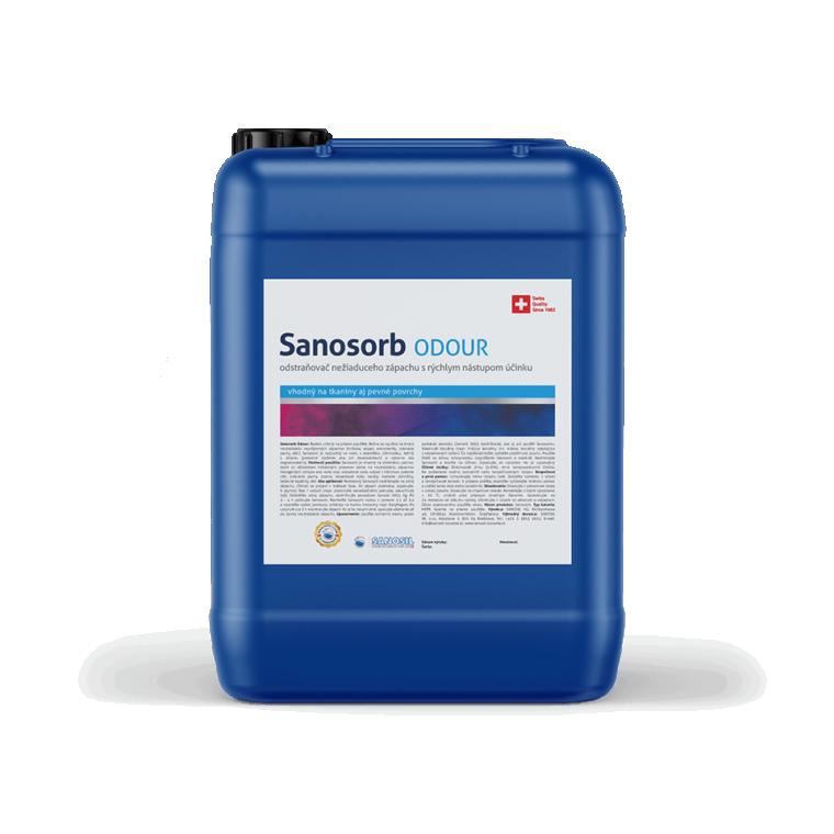 Sanosorb ODOUR, balenie 5kg - neutralizáciu nepríjemných zápachov biologického pôvodu ako hniloba, odpad, zvieracie pachy, atď.